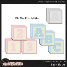 EXCLUSIVE Layered Baby Blocks Templates by NewE Designz