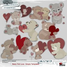 Beary First Love Simply Templates