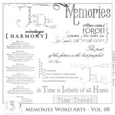 Memories Word Arts Vol 08 by D's Design