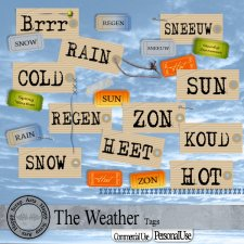 The Weather Tags by Happy Scrap Art