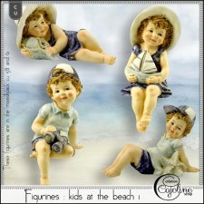 Figurines - Kids at the beach 1 by Cajoline-Scrap