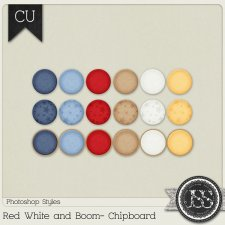 Red White and Boom Chipboard PS Styles by Just So Scrappy