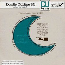 Doodle Outline Action for Photoshop