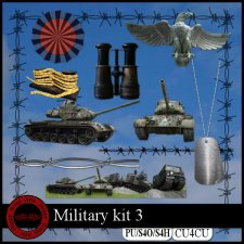 EXCLUSIVE Military 3 kit CU4CU by Happy Scrap Art