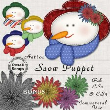 Action - Snow Puppet by Rose.li