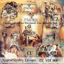 Vintage Nativity Overlays- CU Vol 168 by MagicalReality Designs