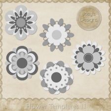 Flower Layered Templates 11 by Josy