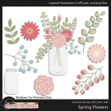 EXCLUSIVE Layered Spring Flower Templates by NewE Designz