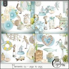 Elements CU - 292 to 295 ocean inspiration by Cajoline-Scrap