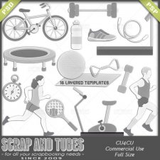 Get In Shape Templates CU4CU by Scrap and Tubes