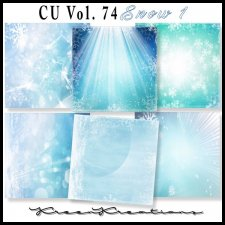 CU Vol. 74 Papers Pack Snow 1 by Kreen Kreations