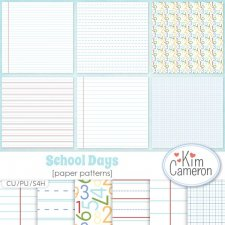 School Days Patterns by Kim Cameron