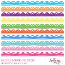 Colorful eyelet lace borders Lilmade Designs