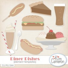 Diner Dishes Templates by Kim Cameron