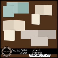 Wrap with a Bow Card Templates CU4CU by Happy Scrap Art