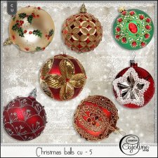 Christmas balls cu - 5 by Cajoline-Scrap