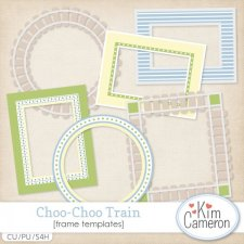 Choo-Choo Train Frames by Kim Cameron