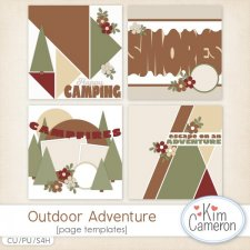 Outdoor Adventures Page Templates by Kim Cameron
