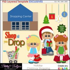 Holiday Christmas Shopping - EXCLUSIVE TEMPLATES