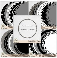 Deco Mats Bundle 3 - Vol 11-14 plus bonus frame by ADB Designs