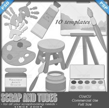 Joy of Painting Templates CU4CU by Scrap and Tubes