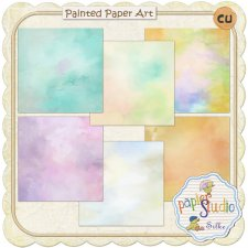 Painted Paper Art 1 EXCLUSIVE by PapierStudio Silke
