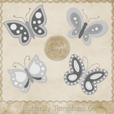 Butterfly Layered Templates 6 by Josy