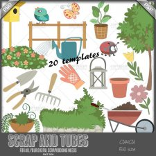 Gardening Time Templates CU4CU by Scrap and Tubes