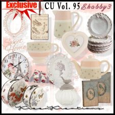 EXCLUSIVE Shabby Element Mix 3 by Kreen Kreations