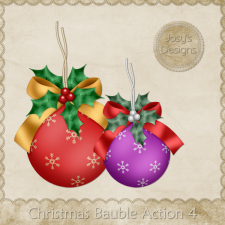 Christmas Bauble Photoshop Action 4 by Josy