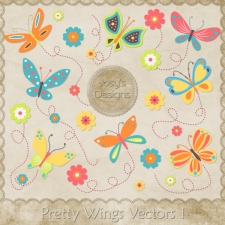 Pretty Wings Layered Vector Templates by Josy