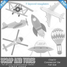 Aerospace Templates (CU4CU) by Scrap and Tubes