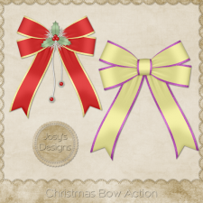 Christmas Bow Photoshop Action by Josy