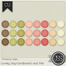 Lovely Day Cardboard and Felt PS Styles by Just So Scrappy