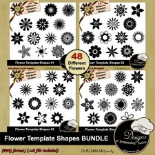 Flower Shapes TEMPLATE BUNDLE by Boop Designs