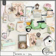 Elements CU - 304 Vintage inspiration in Paris by Cajoline-Scrap