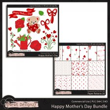 EXCLUSIVE Layered Happy Mothers Day Templates Bundle by NewE Designz