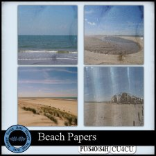 Beach Papers CU4CU by Happy Scrap Art