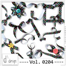 Vol. 0204 - Dots Ribbons Mix by Doudou's Design