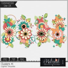 Clusters Layered Templates Pack No 1