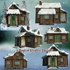 Winter Houses - CU Vol 8 by MagicalReality Designs