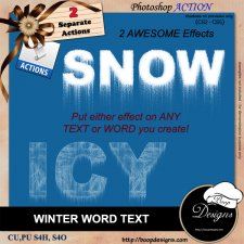 Winter Word Text by Boop Designs
