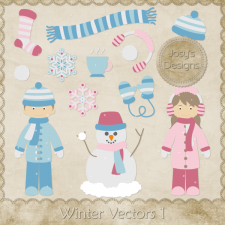Winter Layered Vector Templates 1 by Josy