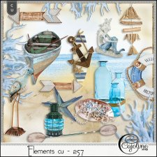 Elements CU - 257 at the beach by Cajoline-Scrap