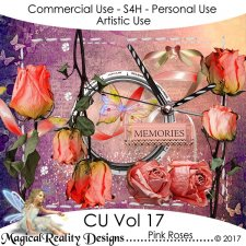 Pink Roses - CU Vol 17 by MagicalReality Designs