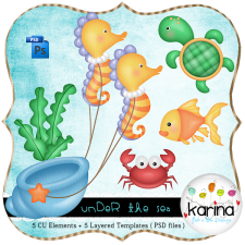 Under the Sea Layered Template by Peek a Boo Designs