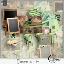 Elements CU - 67 back to school by Cajoline-Scrap