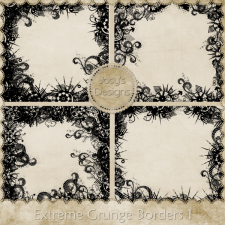 Extreme Grunge Borders 1 by Josy