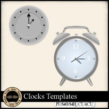 Clocks Templates CU4CU by Happy Scrap Art