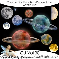 Space Planets - CU Vol 30 by MagicalReality Designs